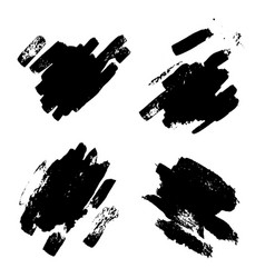 Black ink blotch vector