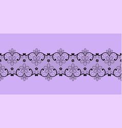 Black lace border vector