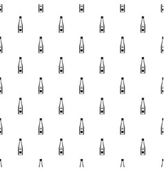 bottle of ketchup pattern vector image