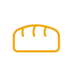 Bread line style bakery icon bakeshop sign vector