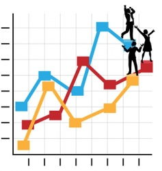 business people graph vector image