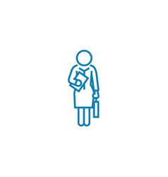 businesswoman linear icon concept businesswoman vector image