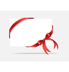 Card with decorative bow vector image