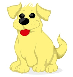 Cartoon golden retriever vector image
