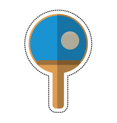 Cartoon ping pong paddle ball vector