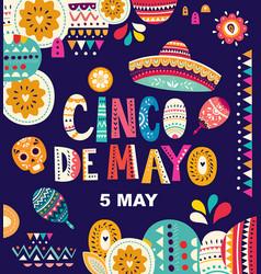 cinco de mayo vector image