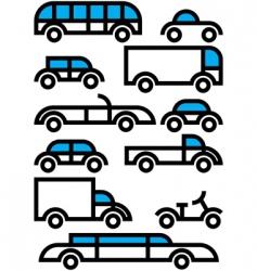 City transportation vector