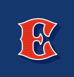 Classic style e letter sport logo vector