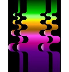 Color set from wavy colorful pattern that is vector image