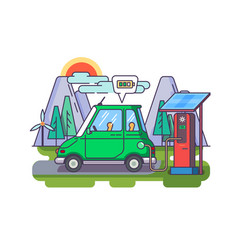 ecological modern car vector image