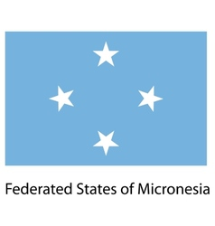 Flag country federated states micronesia vector
