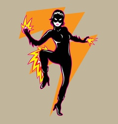 Flash Girl vector image