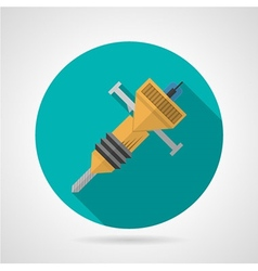 Flat color jackhammer icon vector