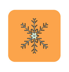Flat color snow flakes icon vector