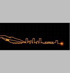 grenoble light streak skyline profile vector image