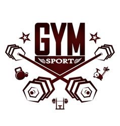 Gym silhouette design vector