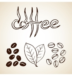 Hand Drawn Coffee Sketch vector image