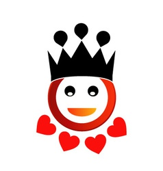 Happy smiley with crown vector