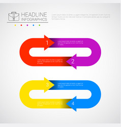 Headline infographic business data arrow vector