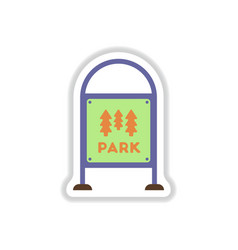 in paper sticker style garden vector image