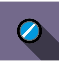 Interchangeable camera lens icon flat style vector