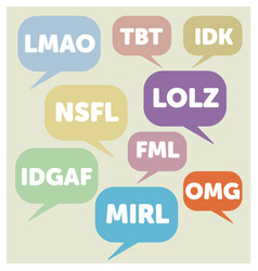 Internet acronyms vector