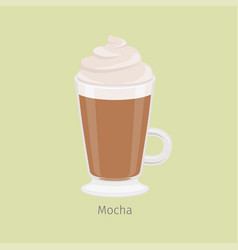 irish glass with mocha coffee flat vector image