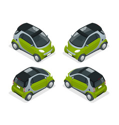 isometric hybrid car city car isolated on white vector image
