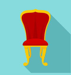 king throne icon flat style vector image