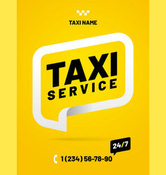 layout design template for taxi service vector image