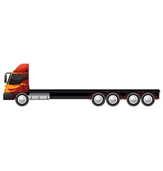 Lorry with many wheels vector