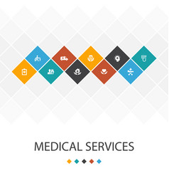 Medical services trendy ui template infographics vector