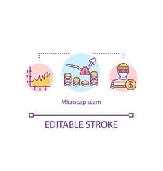 Microcap scam concept icon vector