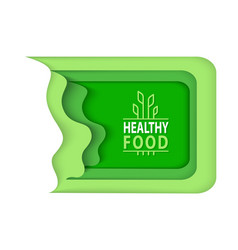 Natural food logotypes with plant leaves flora vector