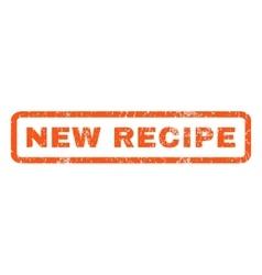 New Recipe Rubber Stamp vector