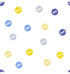 New Tag Seamless Flat Pattern vector