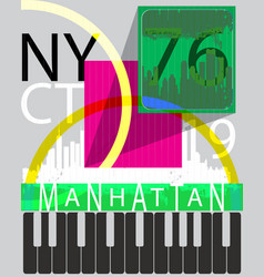 new york fashion typography graphic design vector image
