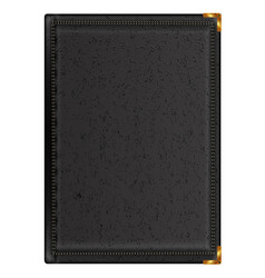 Notepad in black leather binding vector