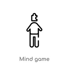 outline mind game icon isolated black simple line vector image