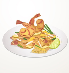 Pad thai vector