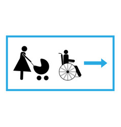 Pass for disabled and mother with child vector