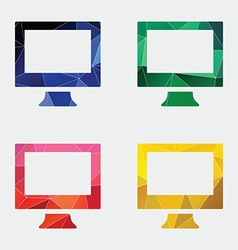 pc icon Abstract Triangle vector image
