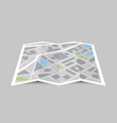 Perspective city map concept vector