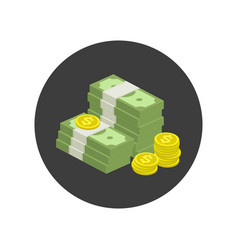 pile money icon vector image