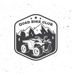 Quad bike club summer camp vector