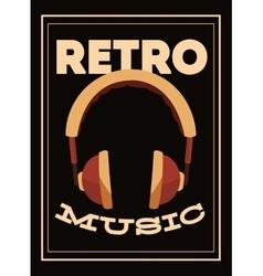 Retro music poster design vector