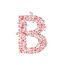 Romantic floral letter b vector