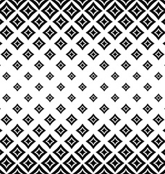Seamless monochrome angular curved square pattern vector