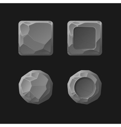 set cartoon stone game assets vector image