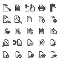 set of files icons vector image